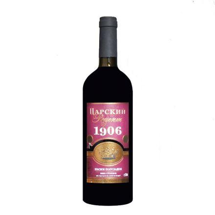 Вино красное полусладкое Царский рецепт